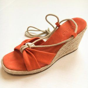 Ralph Lauren Amelie Espadrille Wedge Sandals 6.5